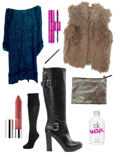 Black Leather Boots Day Look