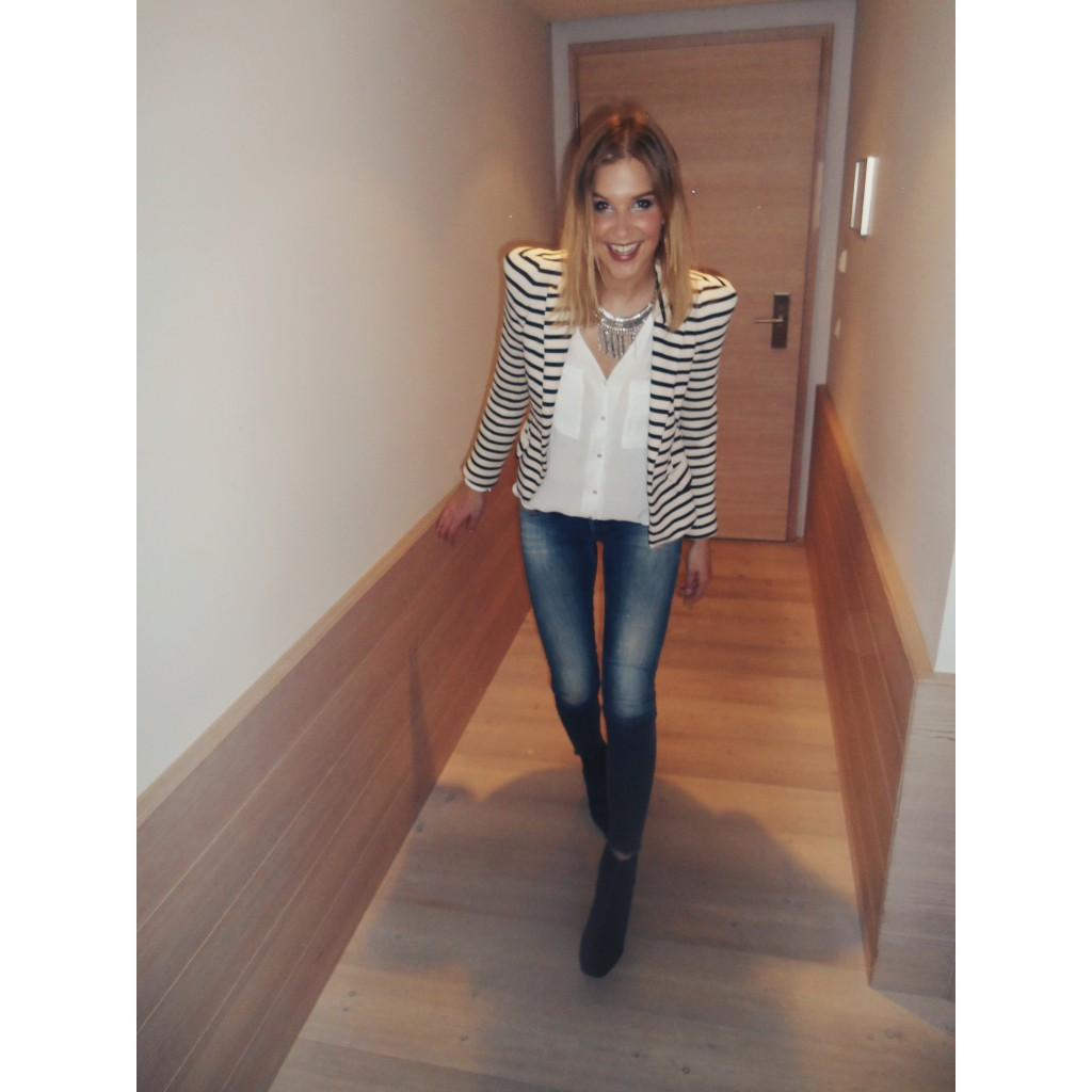 Jeans and Stripe Look 2