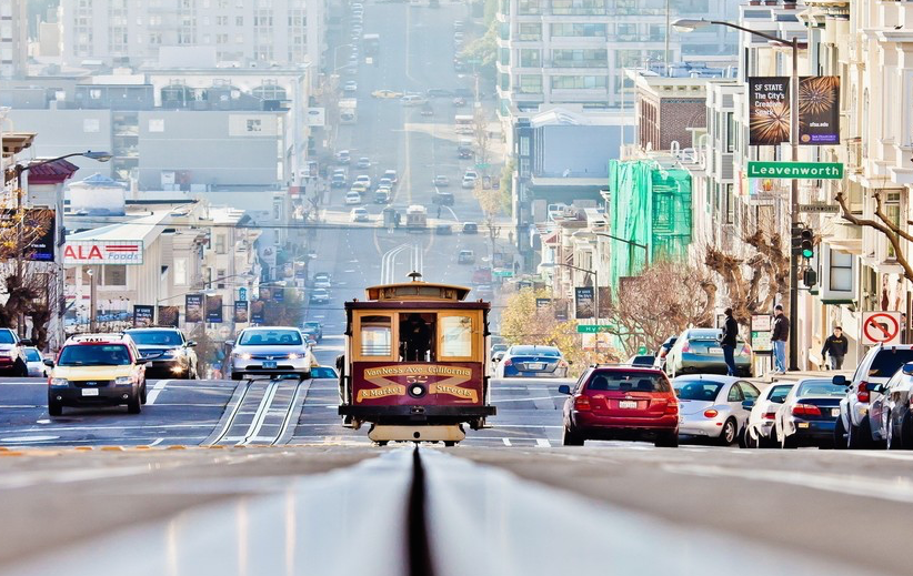 San Francisco Street Bus background