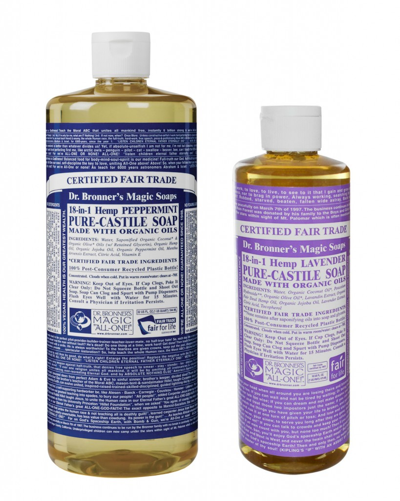 dr. bronner peppermint lavender soap I am Metal Heart