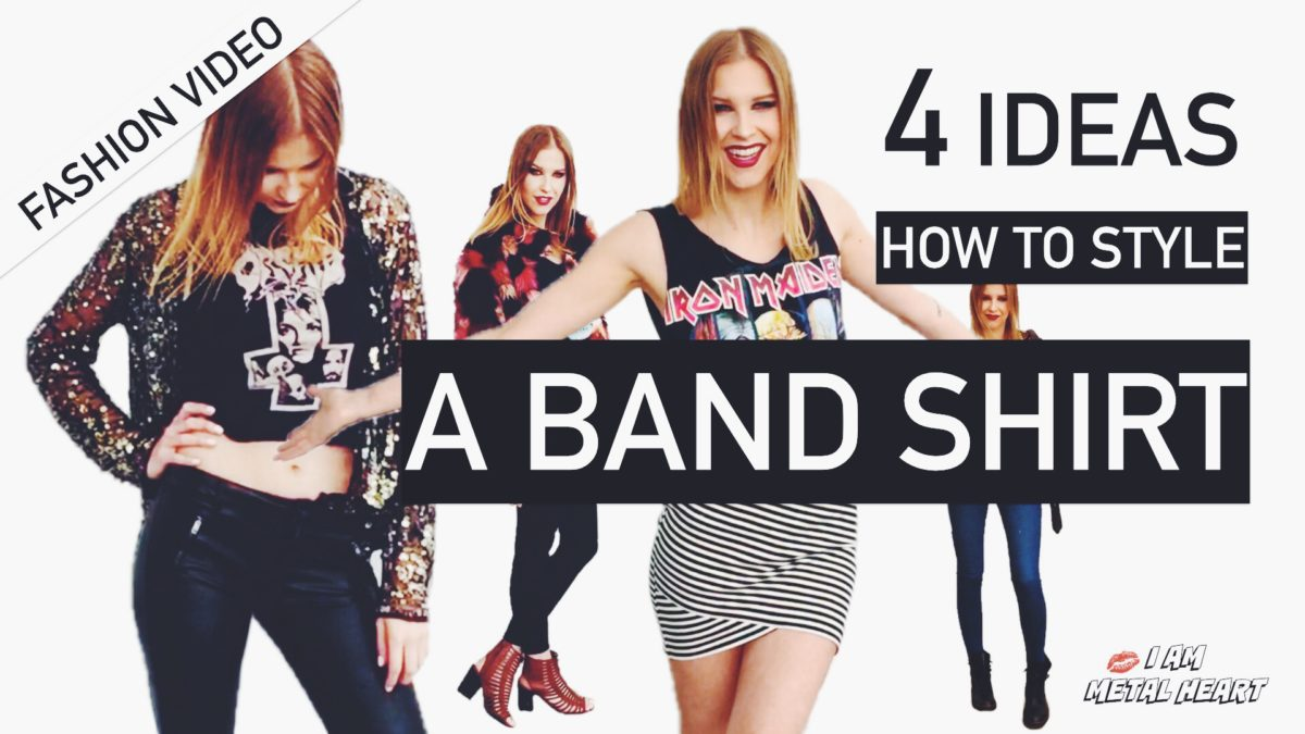 4 Ideas How To Style A Band Shirt - I am Metal Heart
