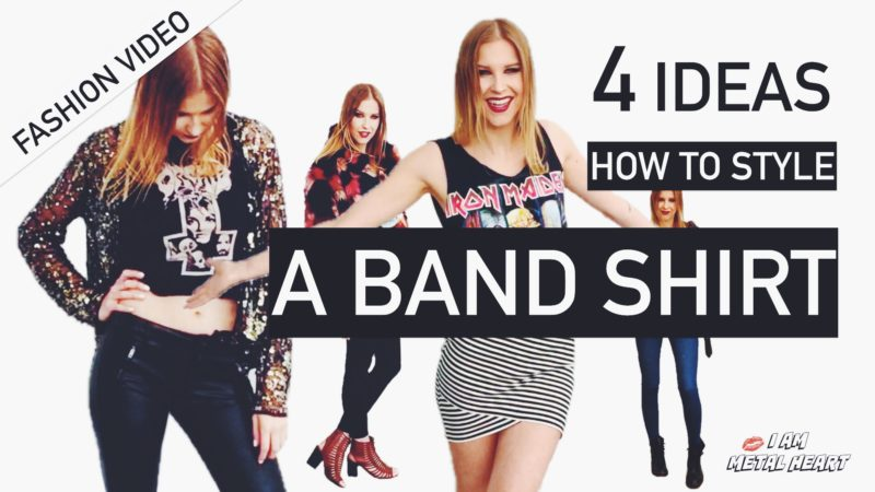 Fashion Video – 4 Ideas How To Style a Band Shirt
