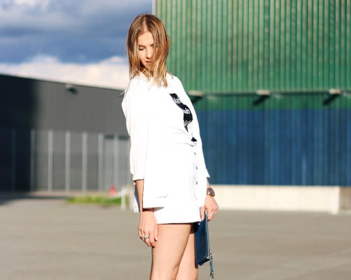 An Afternoon In White I am Metal Heart - Swiss Fashion Blog