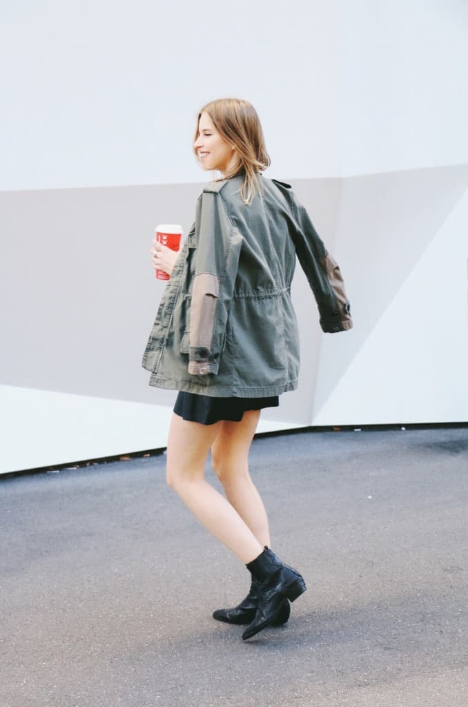 Military Parka and Leather Skirt - I am Metal Heart